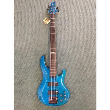 Custom Esp B155DX 5 String Bass 2017 See Thru Blue
