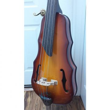 Custom SitdownEUB Electric Upright Bass 2016 Amber Burst