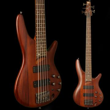Custom Ibanez SR505 5-String Bass Brown Mahogany w Hard Case