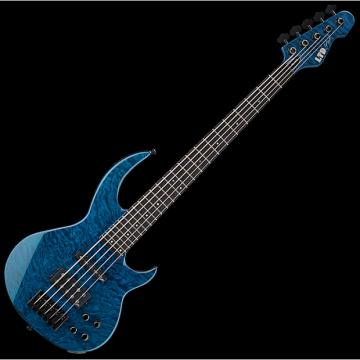 Custom ESP LTD BB-1005 QM Bunny Brunel Electric Bass in Black Aqua