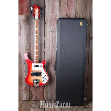 Custom Rickenbacker 4003 FG Electric 4 String Bass Electric Guitar Fireglo with Case