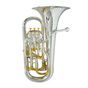 Custom Schiller Elite V Compensating Euphonium - Silver & Gold