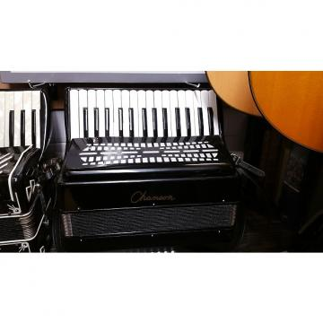 Custom Chanson  24 bass accordion  Black RRP £379