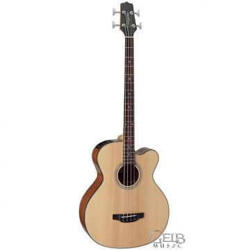 Custom Takamine Solid SpruceTop Jumbo Cutaway Acoustic/Electric Bass Guitar in Natural - GB30CE-NAT