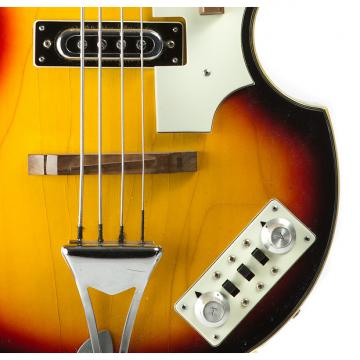 Custom Univox Violin Bass 70's 3 Color Sunburst
