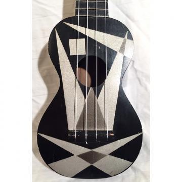 "Custom Vintage Harmony Ukulele Uke ""Art Deco"" 1950s Black"