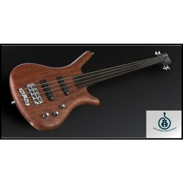 Custom Warwick GPS Corvette Bubinga 4 Natural Transparent Satin Fretless, Active, Chrome Hardware w/Bag
