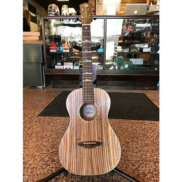 Custom Luna Uke High Tide Zebrawood 2016 Zebrawood with gigbag*
