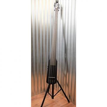 Custom NS Design NXT 4 String Electric Upright Double Bass Flat Black & Stand