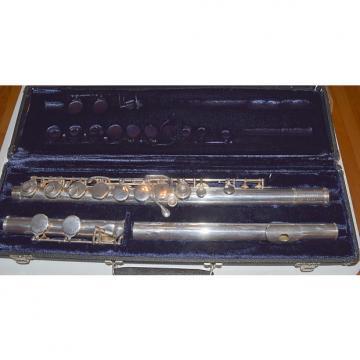 Custom Gemeinhardt Alto Flute Sterling Silver Head 1971 Silver
