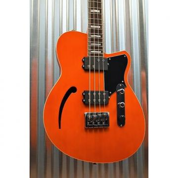 Custom Reverend Guitars Dub King 4 Sting Semi Hollow Bass Rock Orange & Two Tone Case