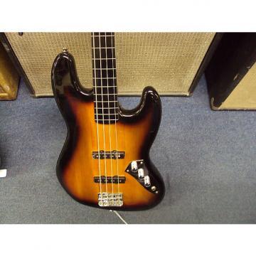 Custom Squier Jazz Bass Fretless Electric Bass Guitar 2016 Sunburst