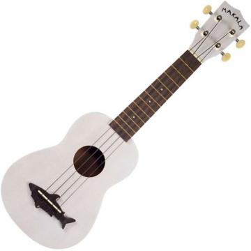 Custom Kala MK-SS/WHT Makala Shark Soprano Ukulele - Satin Great White