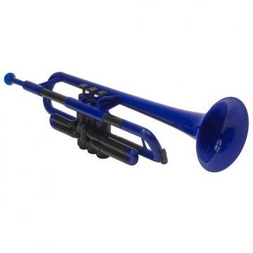 Custom PLASTIC TRUMPET BLUE WITH BAG & MOUTHPIECES pTRUMPET
