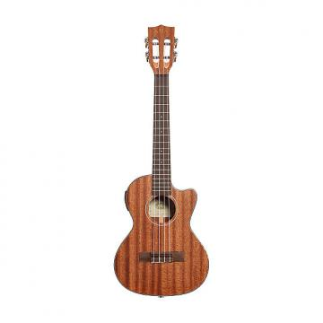 Custom Kala KA-SMHTE-C Solid Mahogany Tenor Ukulele with EQ