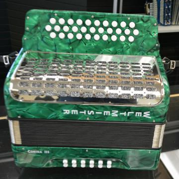 Custom Weltmeister Corina III Button Accordion - GCF - Green Marble