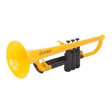 Custom PLASTIC TRUMPET Yellow WITH BAG & MOUTHPIECES pTRUMPET