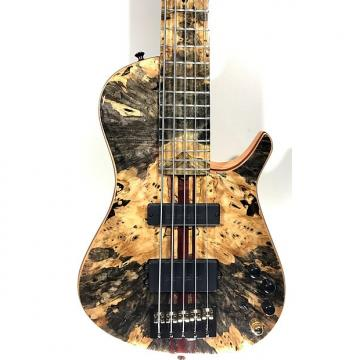 Custom Brubaker KXB-5 Extreme 5 String Bass - Buckeye Burl Top AND Fretboard!