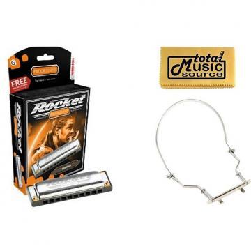 Custom HOHNER Progressive Diatonic ROCKET HARMONICA Key of G, Case & Harmonica Holder, M2013BX-G PACK