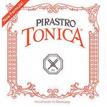Custom Pirastro Tonica 3/4-1/2 size Violin strings set silver steel