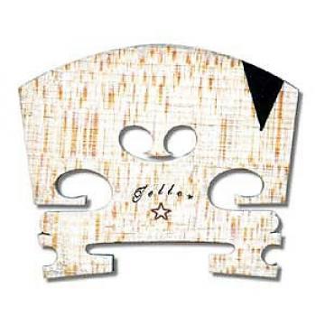 Custom 4/4 size violin bridge ebony insert