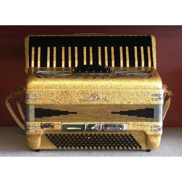 Custom Imperial Centro Matic Lira Accordion 1980's Black & Gold