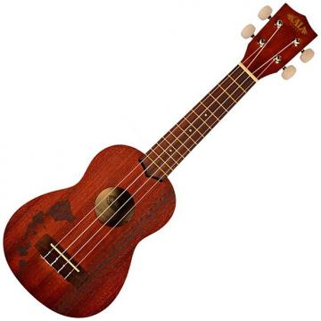 Custom Kala KA-15S-H2 Hawaiian Island Laser Soprano Ukulele with Tattoo