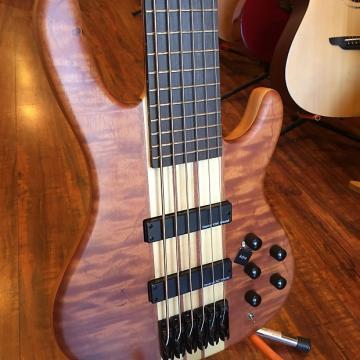 Custom Wolf Flamed Bubinga Top 6 String Bass