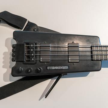 Custom Steinberger XL-2 bass S/N 4513 – black; 1987; w/strap, knee rest, & gig bag