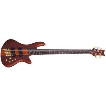 Custom Schecter Guitar Research 5-String Stiletto Studio Bass Fanned Fret - Honey Satin