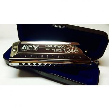 Custom Huang 1248 Chromatic Harmonica C