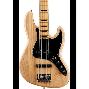 Custom Fender American Elite Jazz Bass V, Maple Electric Bass Guitar  Natural