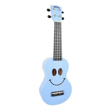 Custom Mahalo Smile Light Blue Soprano Ukulele