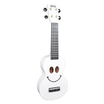Custom Mahalo Smile White Soprano Ukulele