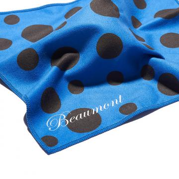 Custom Colourful Microfiber Cleaning/Polishing Cloth - Blue Polka Dot - Flute,Clarinet, Sax etc.