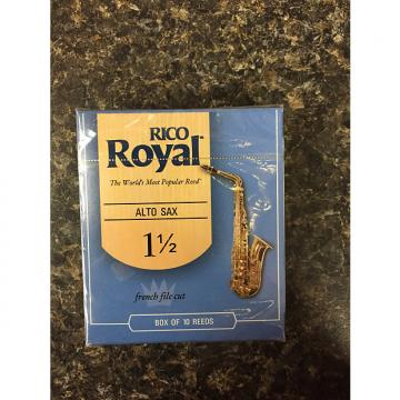 Custom Rico Royal French Cut 1.5 Alto Sax Reeds box 10