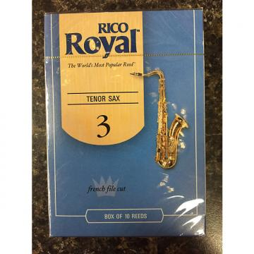 Custom Rico Royal French Cut Tenor Sax Reed size 3 box 10