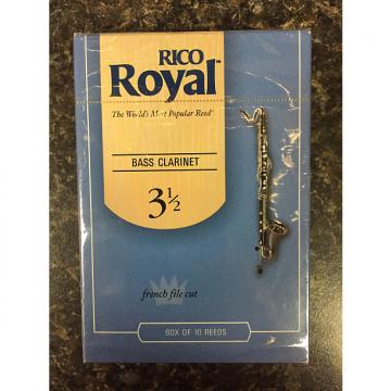 Custom Rico Royal French Cut Bass Clarinet Reeds box 10 - 3.5