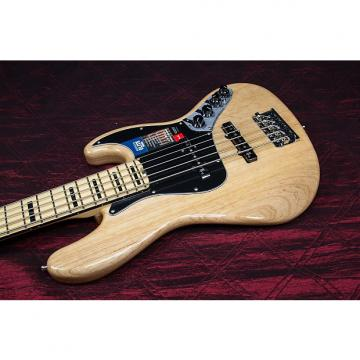 Custom Fender American Elite Jazz Bass V, Maple Electric Bass Guitar  Natural 031513