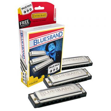 Custom Hohner Blue Band Harmonica Value Pack