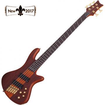 Custom Schecter 2794 STILETTO STUDIO 5 FF FANNED FRET 5 String Bass (Honey Stain)