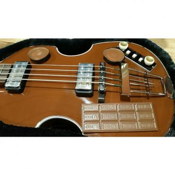 Custom Hofner Custom Shop Gold Label Violin Bass   Berlin Brown (Hershey Milk Chocolate!)