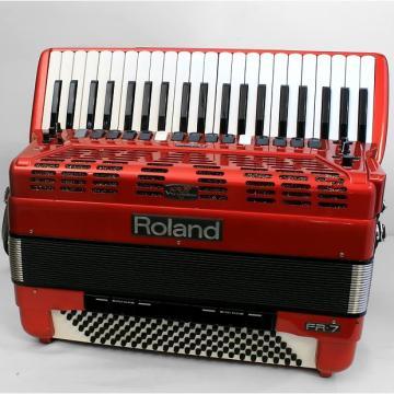 Custom Used Roland FR-7 Red 120-bass accordion