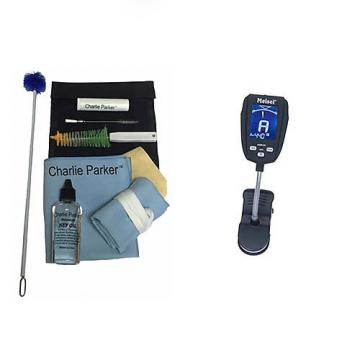 Custom Charlie Parker Paramount Series Soprano Sax Care & Cleaning Kit w/Meisel COM-90 Tuner