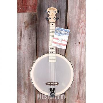 Custom Deering Goodtime Banjo 17 Inch Tenor Scale Ukulele with Piezo Pick Up Uke NAMM