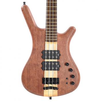 Custom Warwick Custom Shop Corvette $$ NT Bubinga 4-String Natural Oil w/Leather Gig Bag (Serial #E16191816)