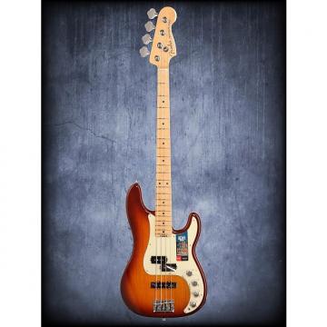 Custom Fender American Elite P Bass Ash Tobacco Burst W/C