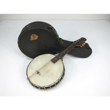 Custom 1922-1924 Gibson MB Pre War Mandolin Banjo Banjo-lin Nice Orignal Hard Shell Case Rock On Mando Man