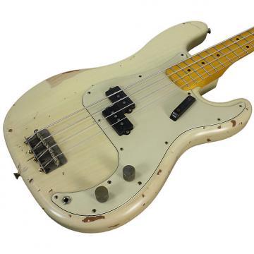 Custom Nash PB-57 Bass Guitar, Mary Kaye White