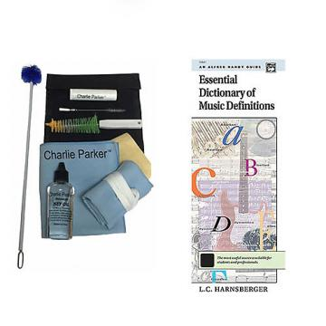 Custom Charlie Parker Paramount Series Alto Saxophone Care & Cleaning Kit w/Music Definitions Book